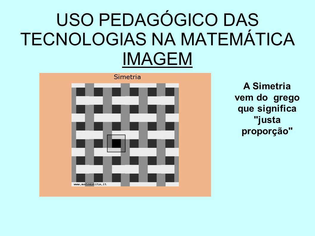 USO PEDAGÓGICO DAS TECNOLOGIAS NA MATEMÁTICA IMAGEM A Simetria vem do grego que significa