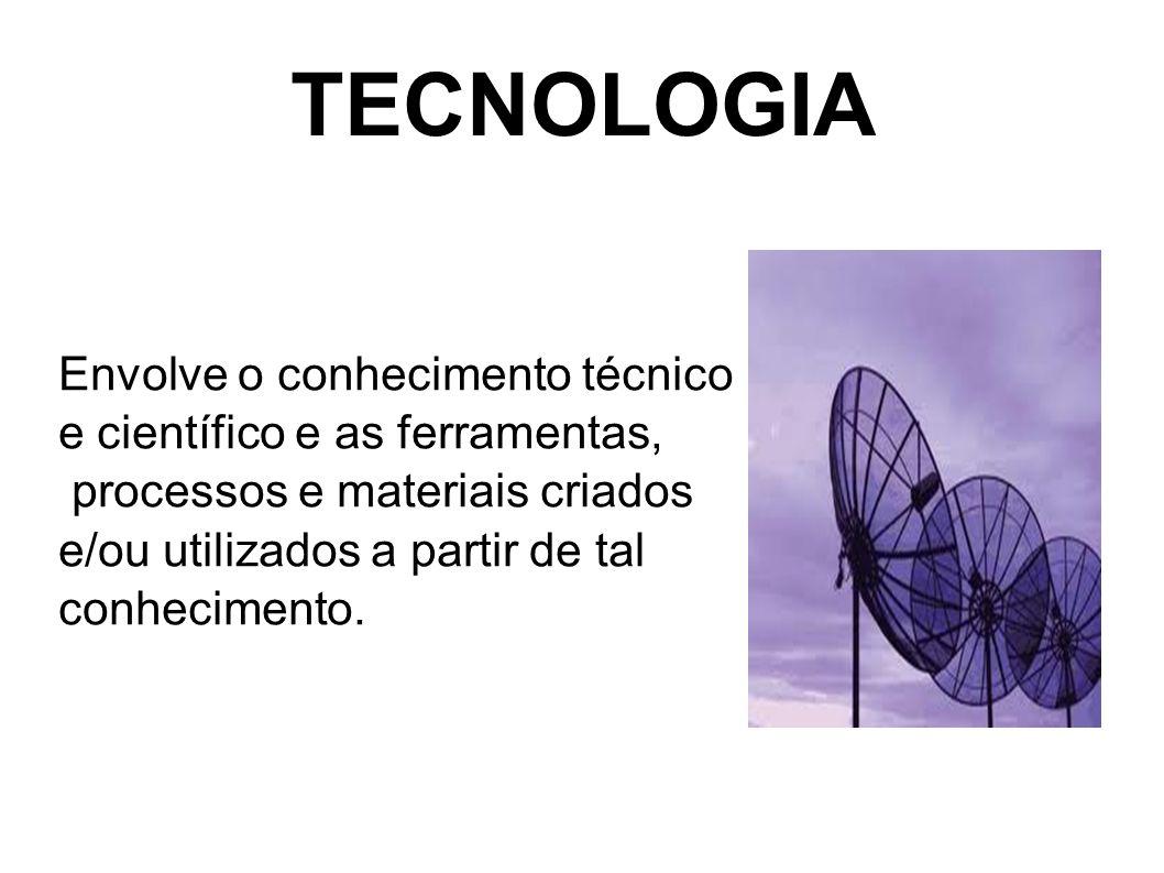 TECNOLOGIA A tecnologia são ferramentas e máquinas que ajudam a resolver problemas.