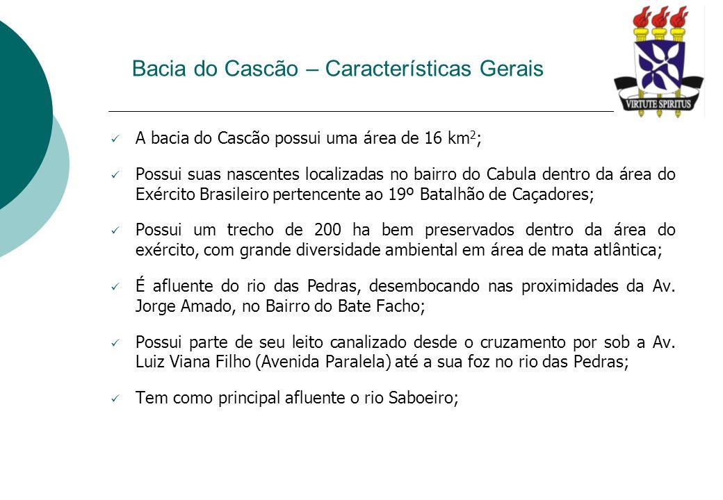 Bacia do Cascão – Características Gerais Bacia do Rio Cascão