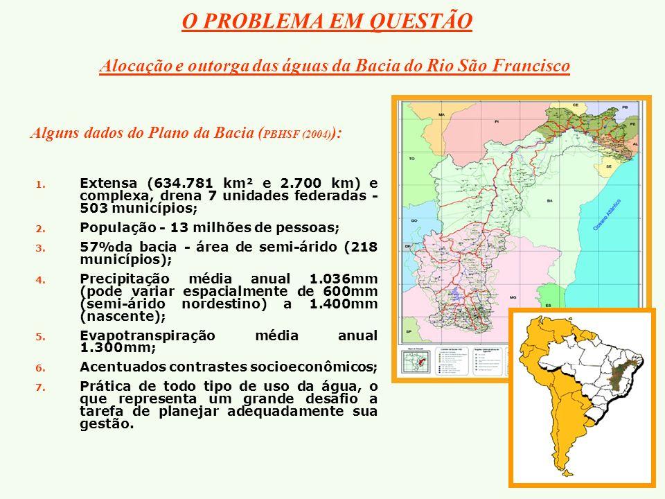 O PROBLEMA EM QUESTÃO 1. 1. Extensa (634.781 km² e 2.700 km) e complexa, drena 7 unidades federadas - 503 municípios; 2. 2. População - 13 milhões de