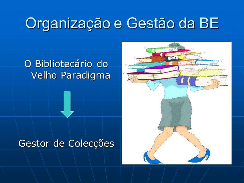 Organização e Gestão da BE O Bibliotecário do Velho Paradigma Gestor de Colecções