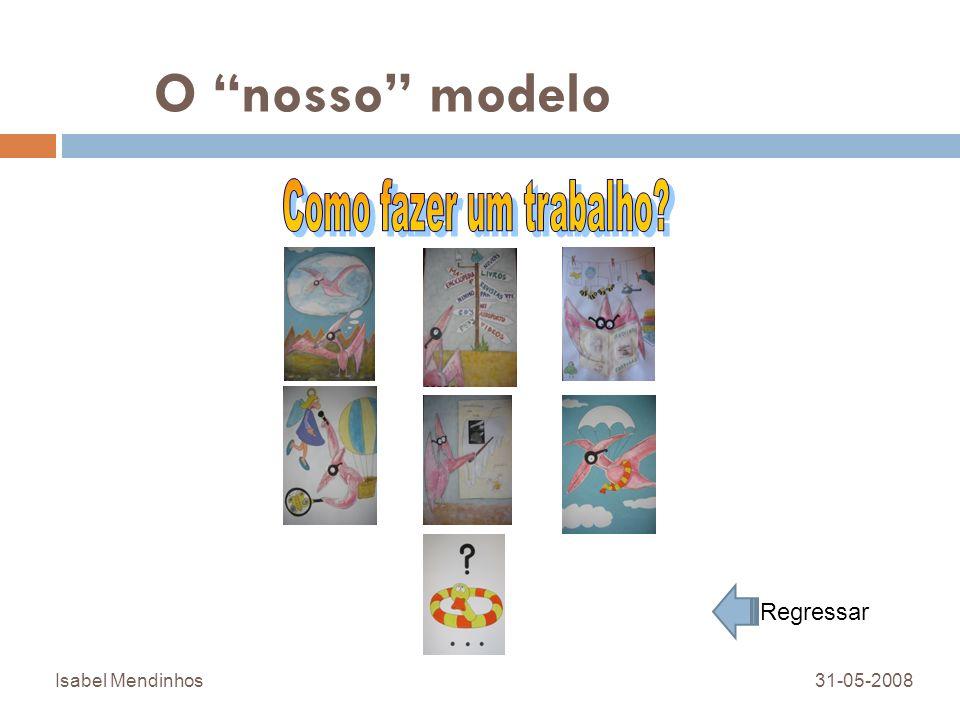 O nosso modelo Isabel Mendinhos31-05-2008 Regressar