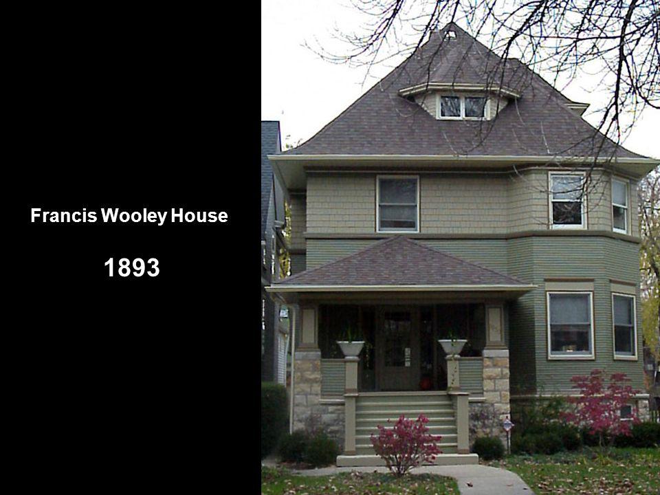 Avery Coonley House 1908 Apesas do estilo pradaria estar firmemente estabelecido, Wright ainda desenhava casas em um estilo errante, assimétrico e pitoresco.