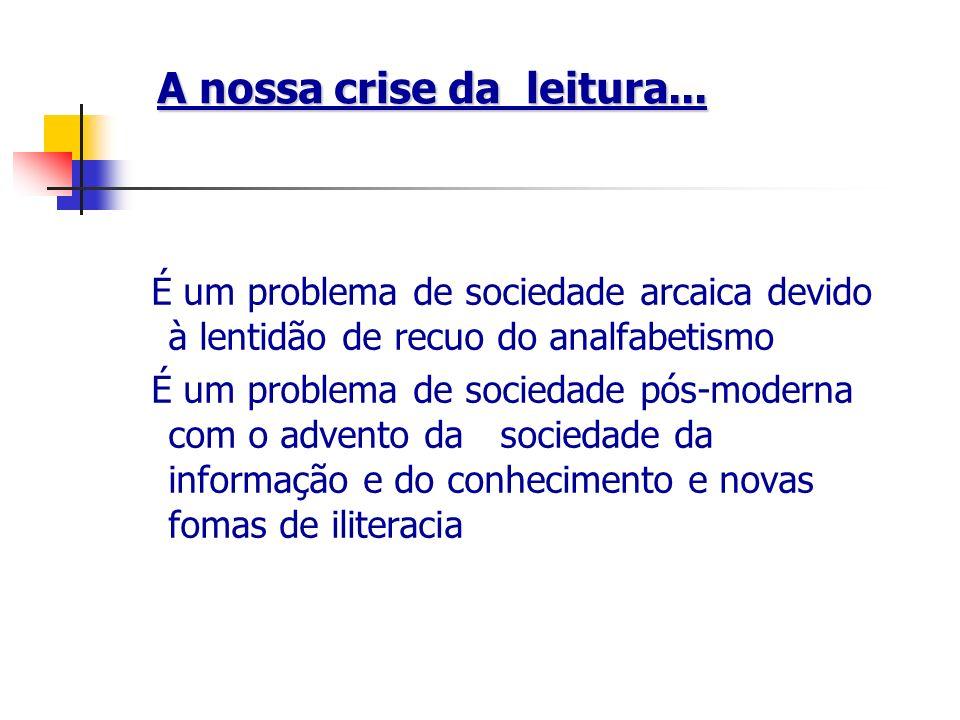 A nossa crise da leitura...