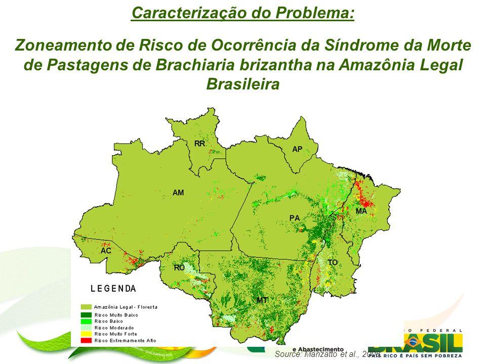 Caracterização do Problema: Zoneamento de Risco de Ocorrência da Síndrome da Morte de Pastagens de Brachiaria brizantha na Amazônia Legal Brasileira S