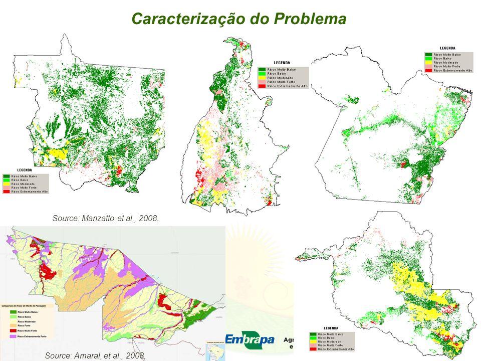 Caracterização do Problema Source: Manzatto et al., 2008. Source: Amaral, et al., 2008.