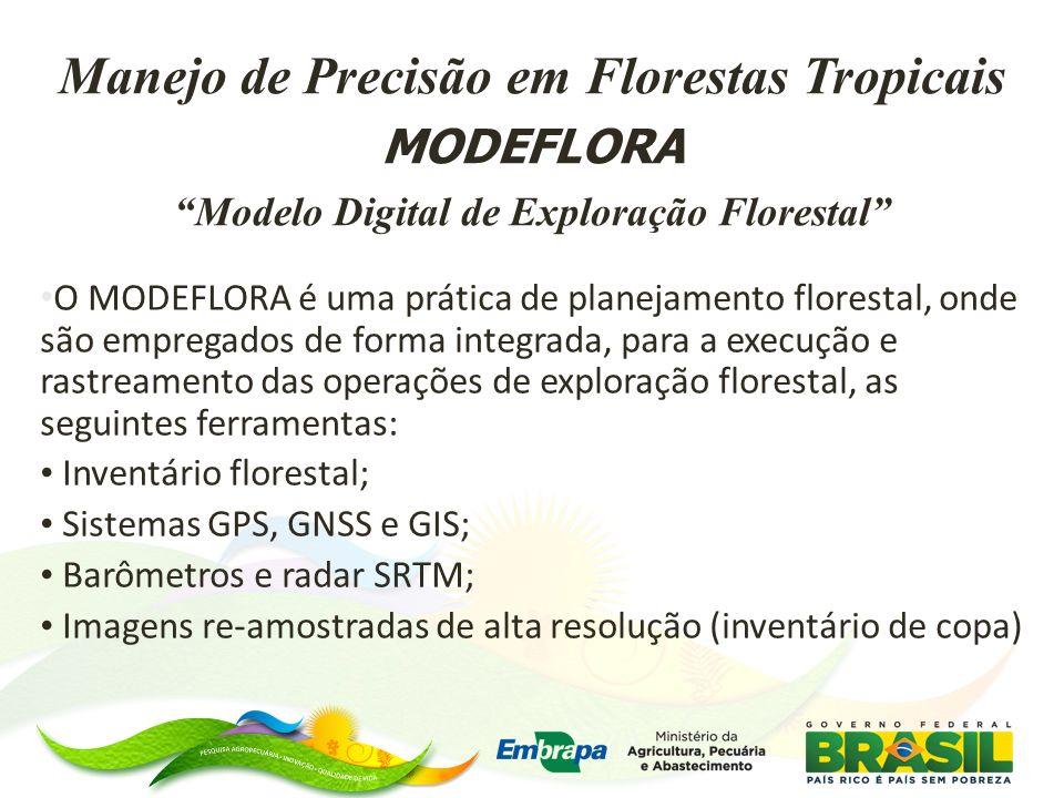O MODEFLORA é uma prática de planejamento florestal, onde são empregados de forma integrada, para a execução e rastreamento das operações de exploraçã