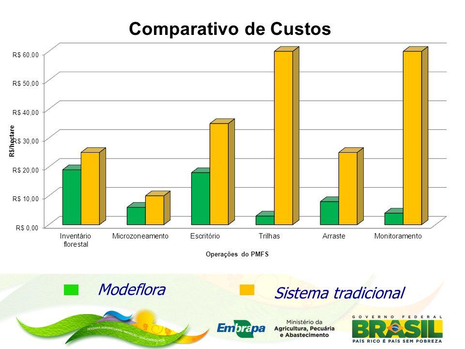 MINISTÉRIO DA AGRICULTURA, PECUÁRIA E ABASTECIMENTO Indicadores Modeflora Sistema tradicional