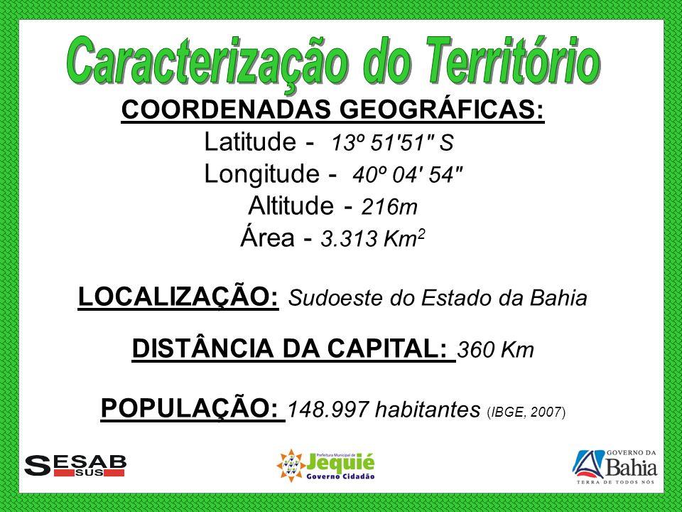 COORDENADAS GEOGRÁFICAS: Latitude - 13º 51'51