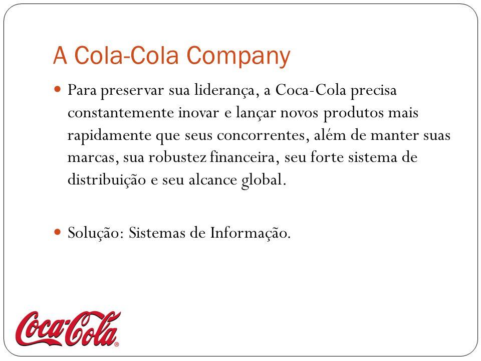 A Cola-Cola Company Para preservar sua liderança, a Coca-Cola precisa constantemente inovar e lançar novos produtos mais rapidamente que seus concorre