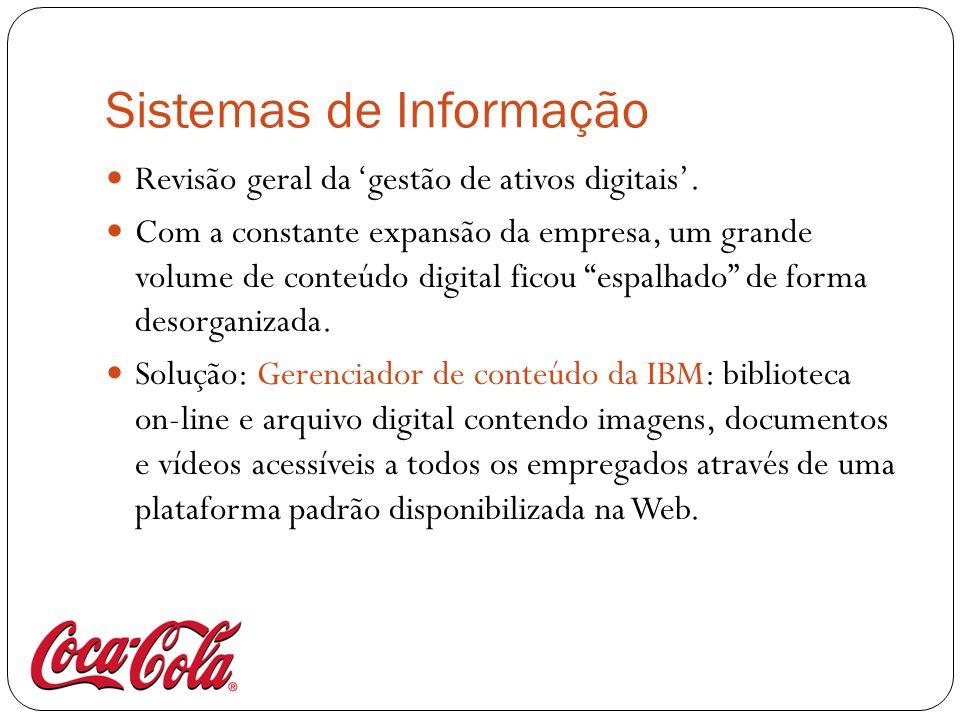 Sistemas de Informação Revisão geral da gestão de ativos digitais. Com a constante expansão da empresa, um grande volume de conteúdo digital ficou esp