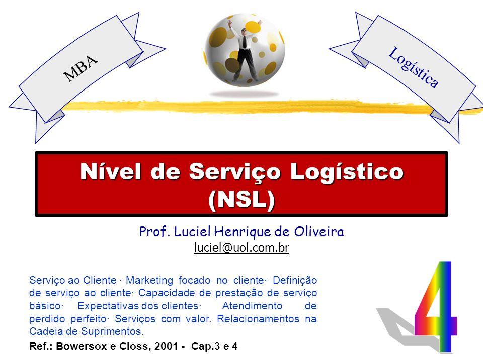 Nível de serviço Nível de serviço ou nível de atendimento é o indicador de quão eficaz foi a distribuição para atender às solicitações dos usuários.
