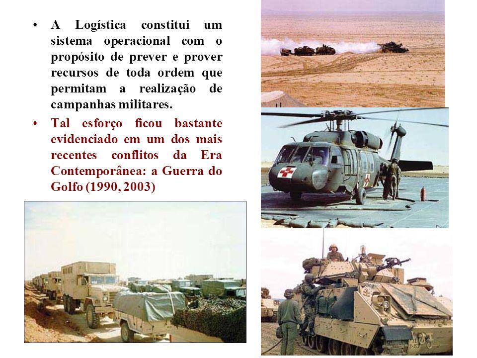 A Logística constitui um sistema operacional com o propósito de prever e prover recursos de toda ordem que permitam a realização de campanhas militare