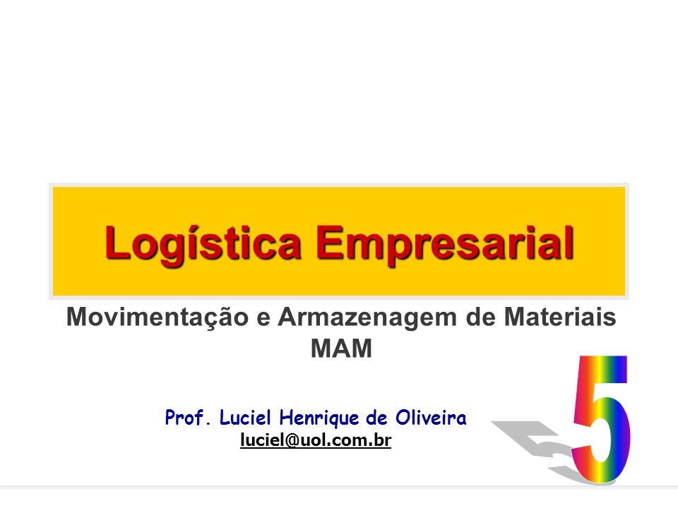 Logística Empresarial Prof. Luciel Henrique de Oliveira luciel@uol.com.br Movimentação e Armazenagem de Materiais MAM
