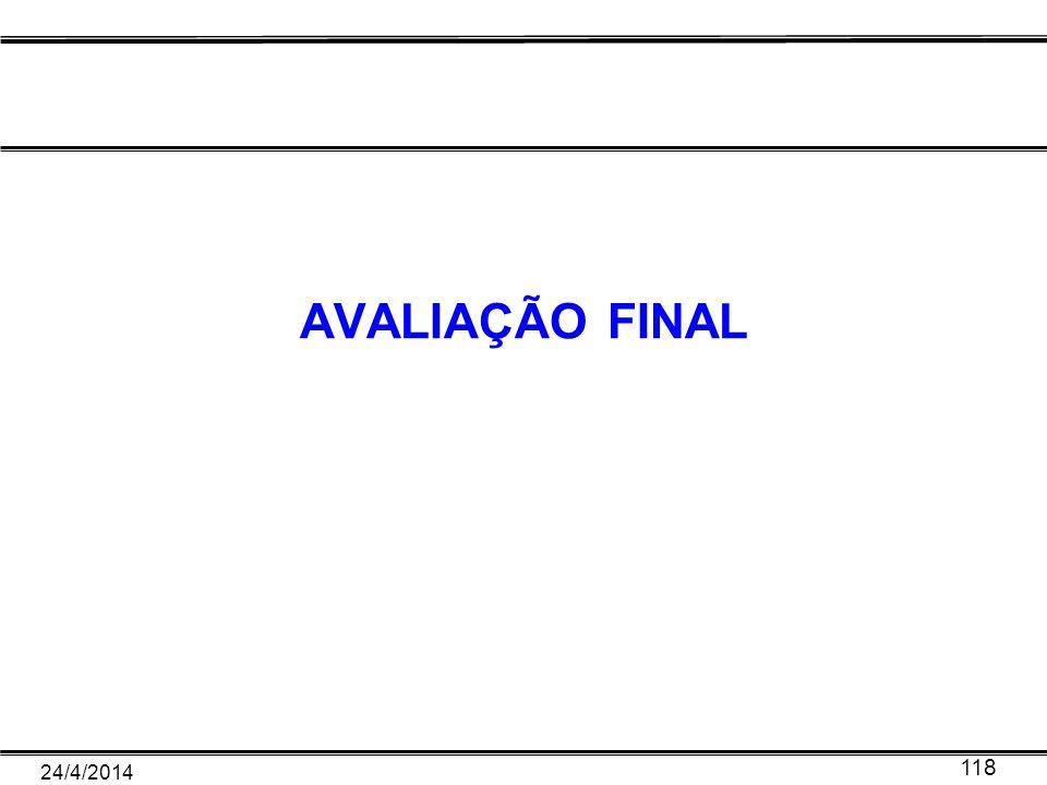 AVALIAÇÃO FINAL 24/4/2014 118