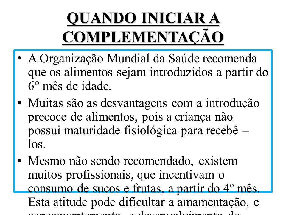 PRÁTICAS ADEQUADAS DE ALIMENTAÇÃO A OMS, em 1998, definiu as em 3 itens: 1.