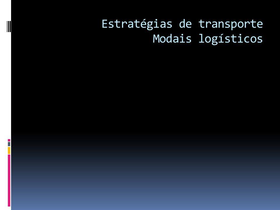 Estratégias de transporte Modais logísticos