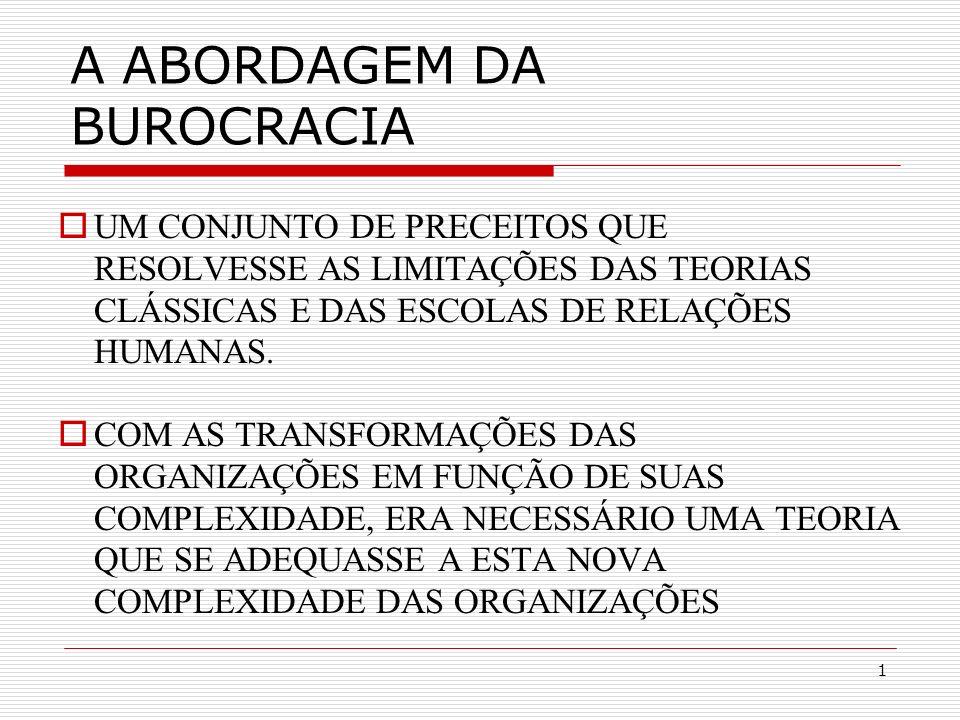 2 A HIERARQUIZAÇÃO E A RACIONALIDADE DA AUTORIDADE A AUTORIDADE LIMITADA AO CARGO, REGIDA POR NORMAS EXPLÍCITAS, SENDO A REMUNERAÇÃO FIXA EM FUNÇÃO DA HIERARQUIA BUSCAVA A COMPETËNCIA TÉCNICA DOS FUNCIONÁRIOS, NOMEADOS E NÃO ELEITOS PARA OS CARGOS ËNFASE NAS REGRAS GERAIS E NAS COMUNICAÇÕES ESCRITAS DISCIPLINA RACIONAL PRINCIPAIS CARACTERÍSTICAS