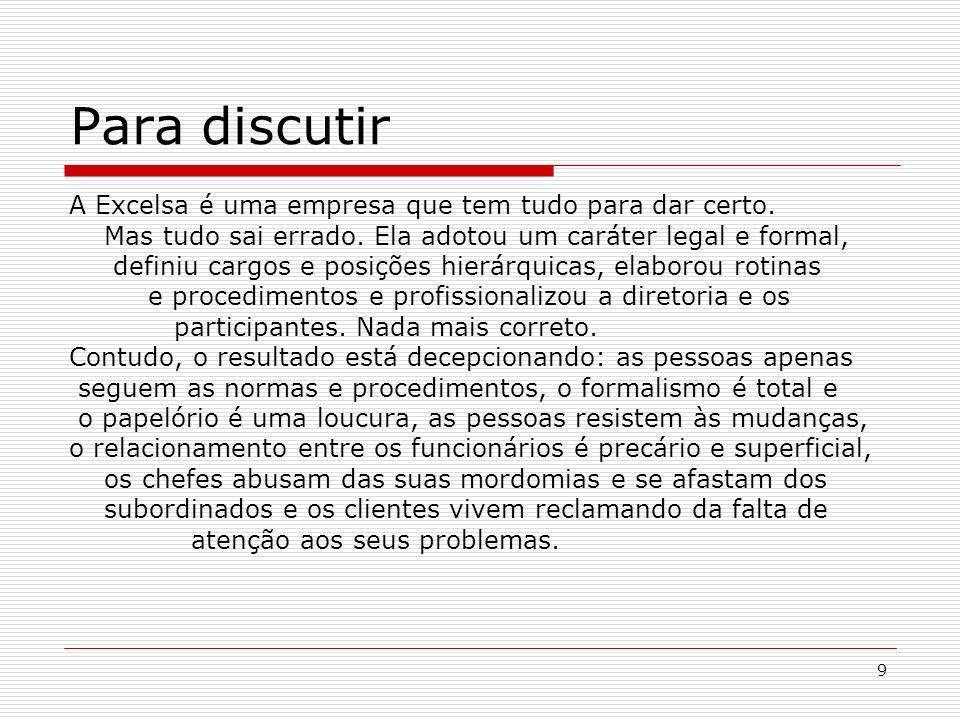 10 Apreciação Crítica 1.Excesso de formalismo da burocracia.