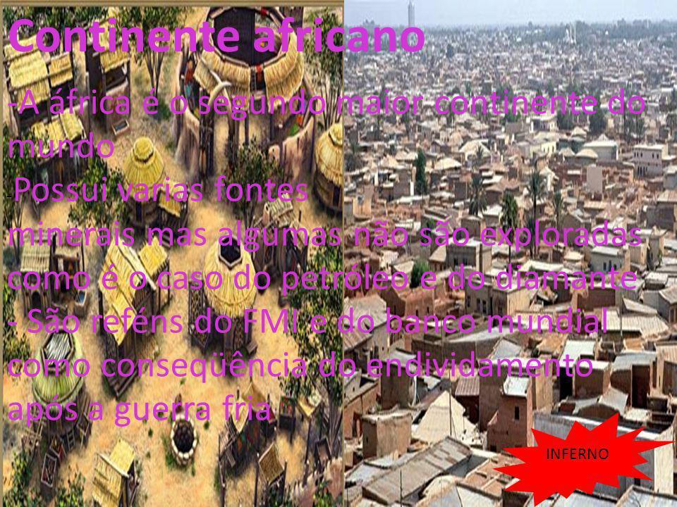 26/04/11 -A áfrica é o segundo maior continente do mundo - Possui varias fontes minerais mas algumas não são exploradas como é o caso do petróleo e do