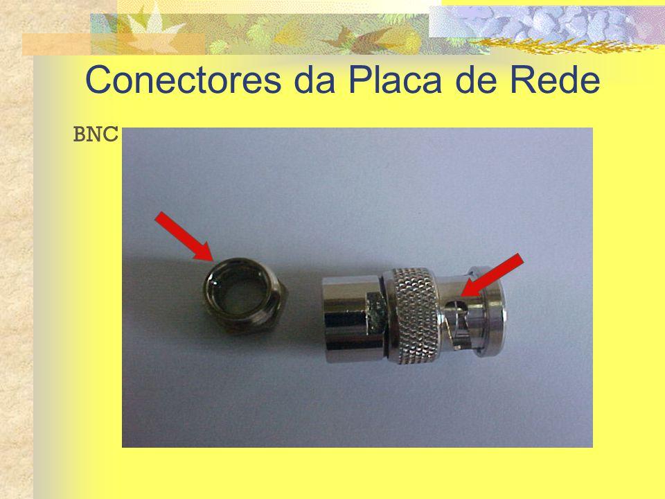 Conectores da Placa de Rede BNC