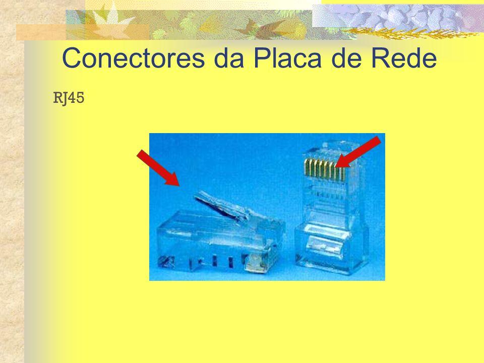 Conectores da Placa de Rede RJ45