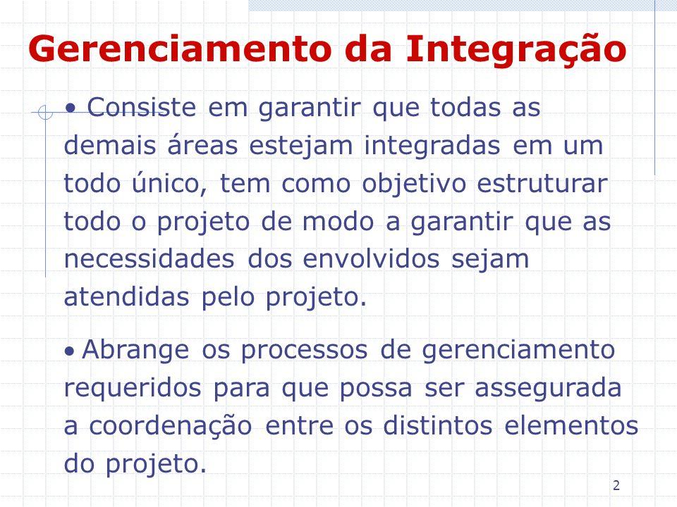 2 Consiste em garantir que todas as demais áreas estejam integradas em um todo único, tem como objetivo estruturar todo o projeto de modo a garantir q