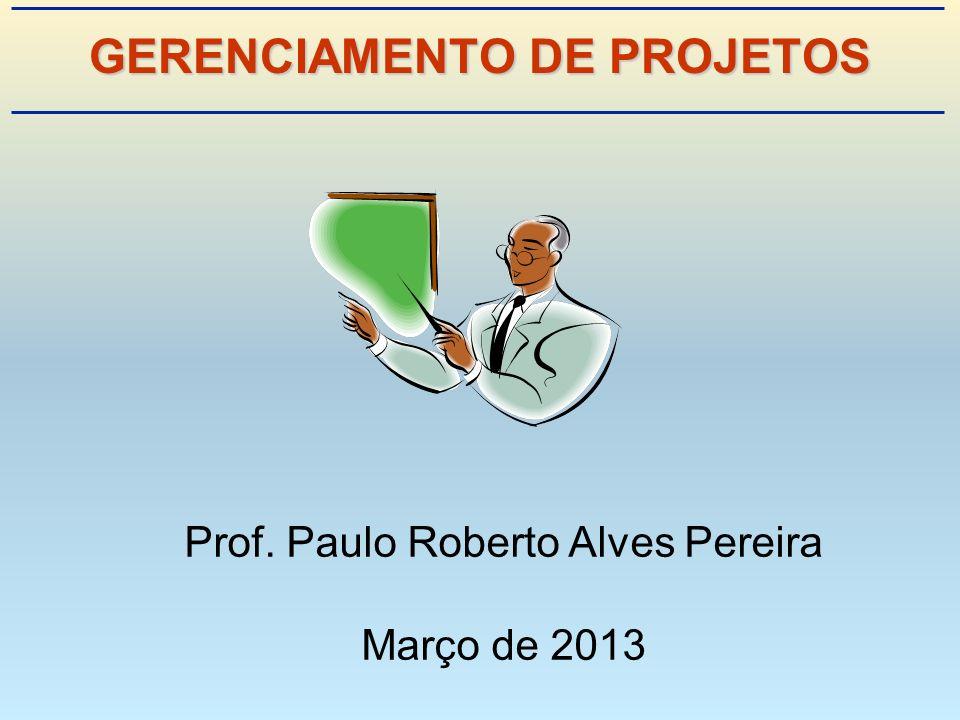 GERENCIAMENTO DE PROJETOS Prof. Paulo Roberto Alves Pereira Março de 2013