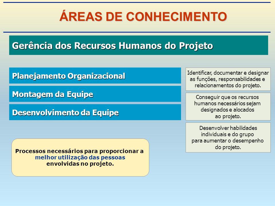 Gerência dos Recursos Humanos do Projeto Gerência dos Recursos Humanos do Projeto Planejamento Organizacional Planejamento Organizacional Montagem da Equipe Montagem da Equipe Desenvolvimento da Equipe Desenvolvimento da Equipe Processos necessários para proporcionar a melhor utilização das pessoas envolvidas no projeto.