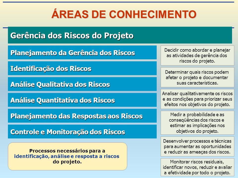 Gerência dos Riscos do Projeto Gerência dos Riscos do Projeto Processos necessários para a identificação, análise e resposta a riscos do projeto.