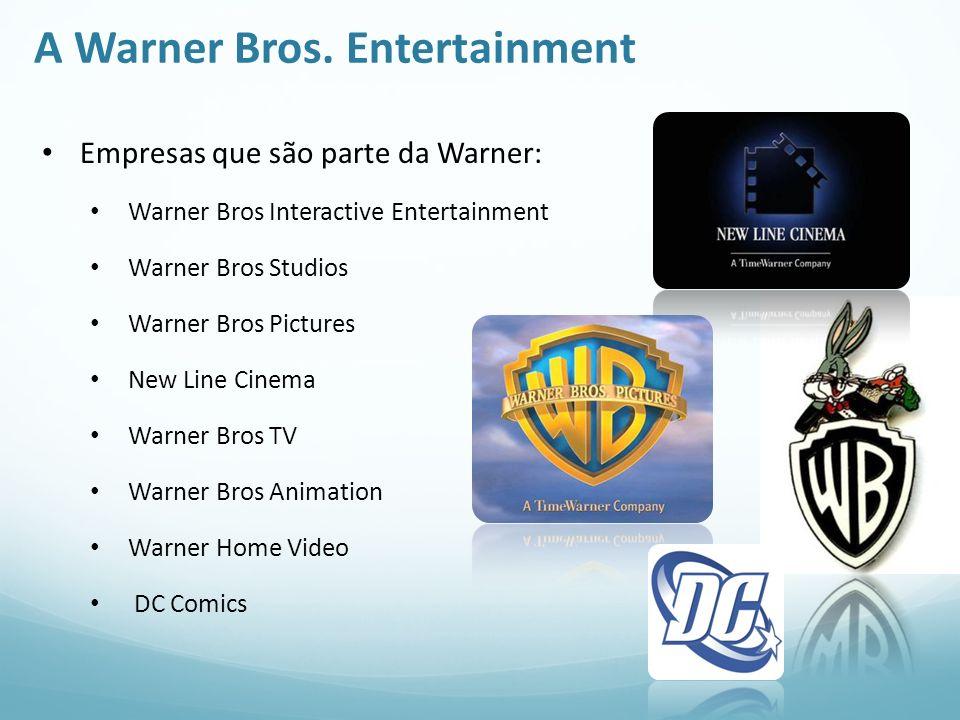 A Warner Bros. Entertainment Empresas que são parte da Warner: Warner Bros Interactive Entertainment Warner Bros Studios Warner Bros Pictures New Line
