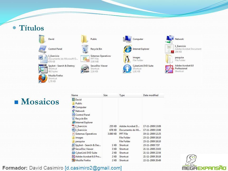 115 Títulos Mosaicos Formador: David Casimiro [d.casimiro2@gmail.com]