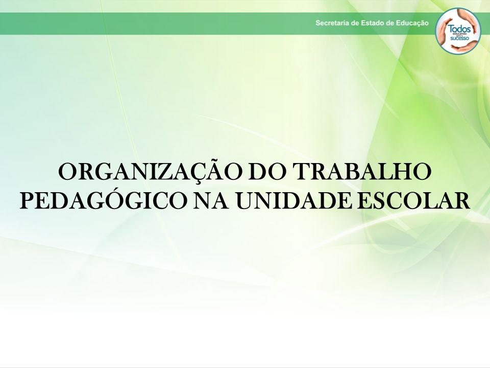 ORGANIZAÇÃO DO TRABALHO PEDAGÓGICO NA UNIDADE ESCOLAR