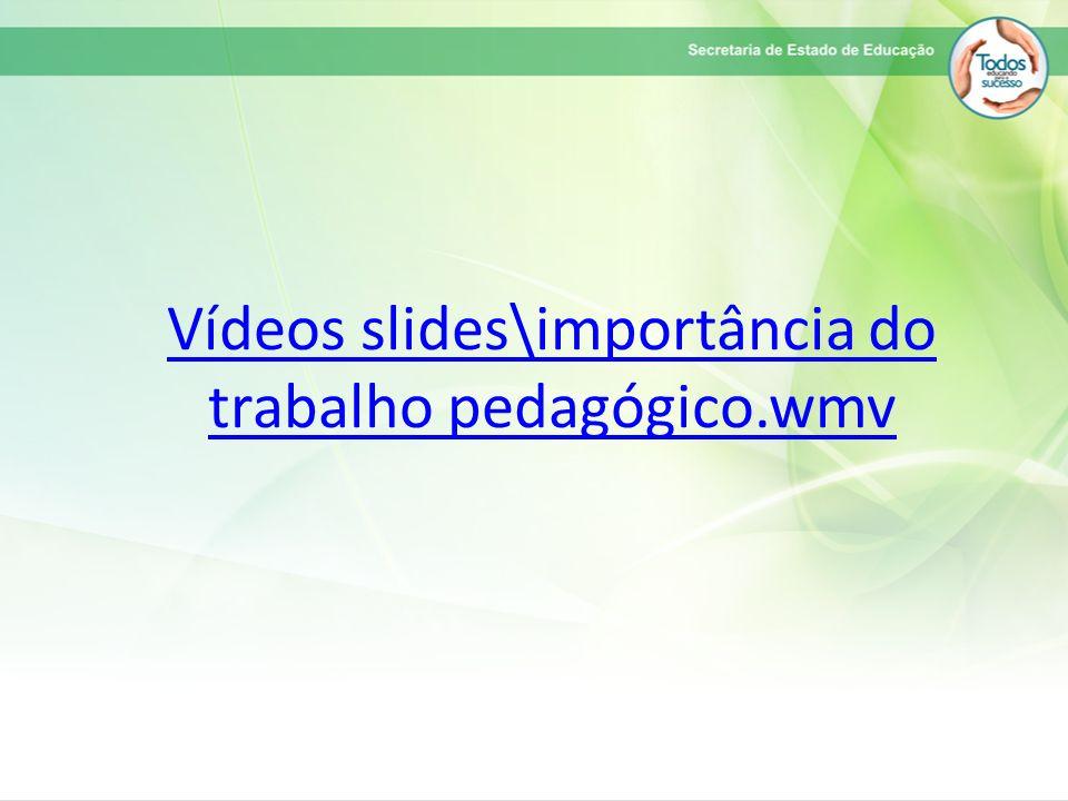 Vídeos slides\importância do trabalho pedagógico.wmv