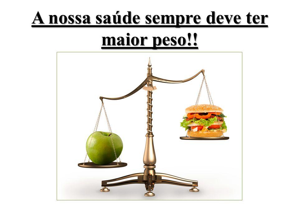 A nossa saúde sempre deve ter maior peso!!
