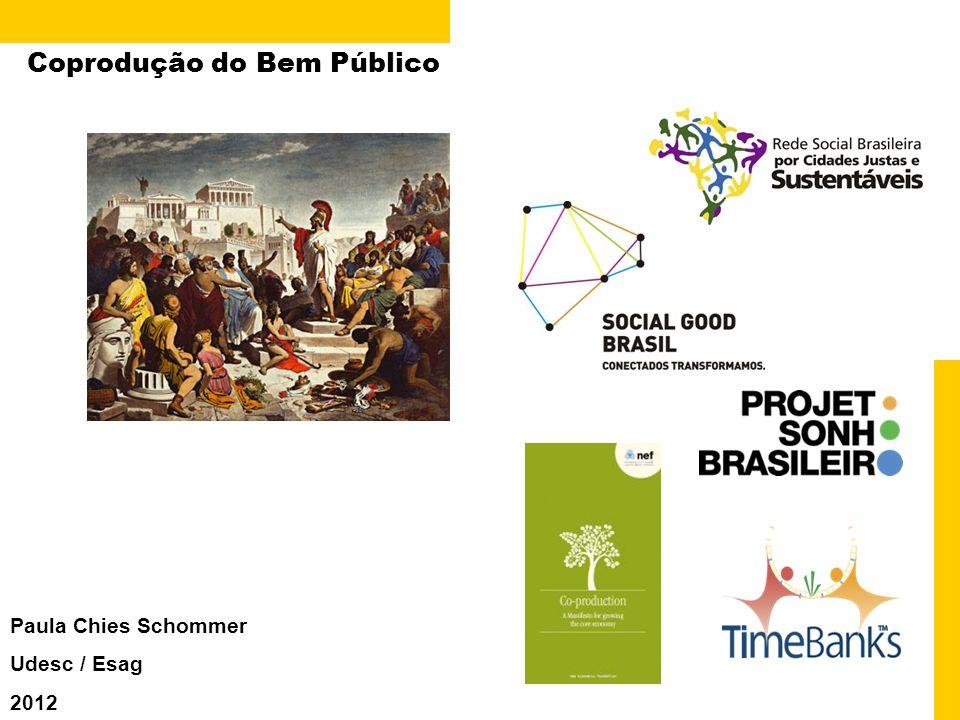 Coprodução do Bem Público Paula Chies Schommer Udesc / Esag 2012