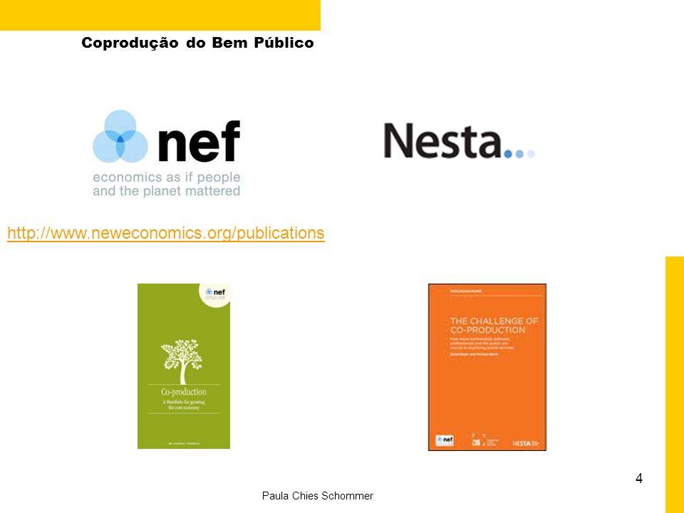 4 Paula Chies Schommer Coprodução do Bem Público http://www.neweconomics.org/publications