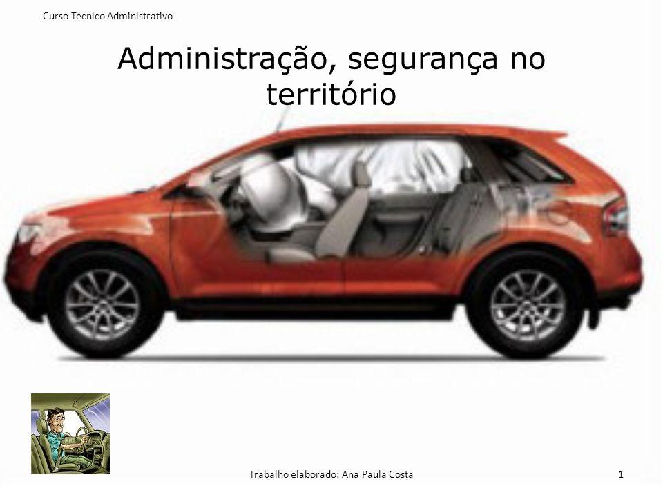 Administração, segurança no território Curso Técnico Administrativo Trabalho elaborado: Ana Paula Costa1