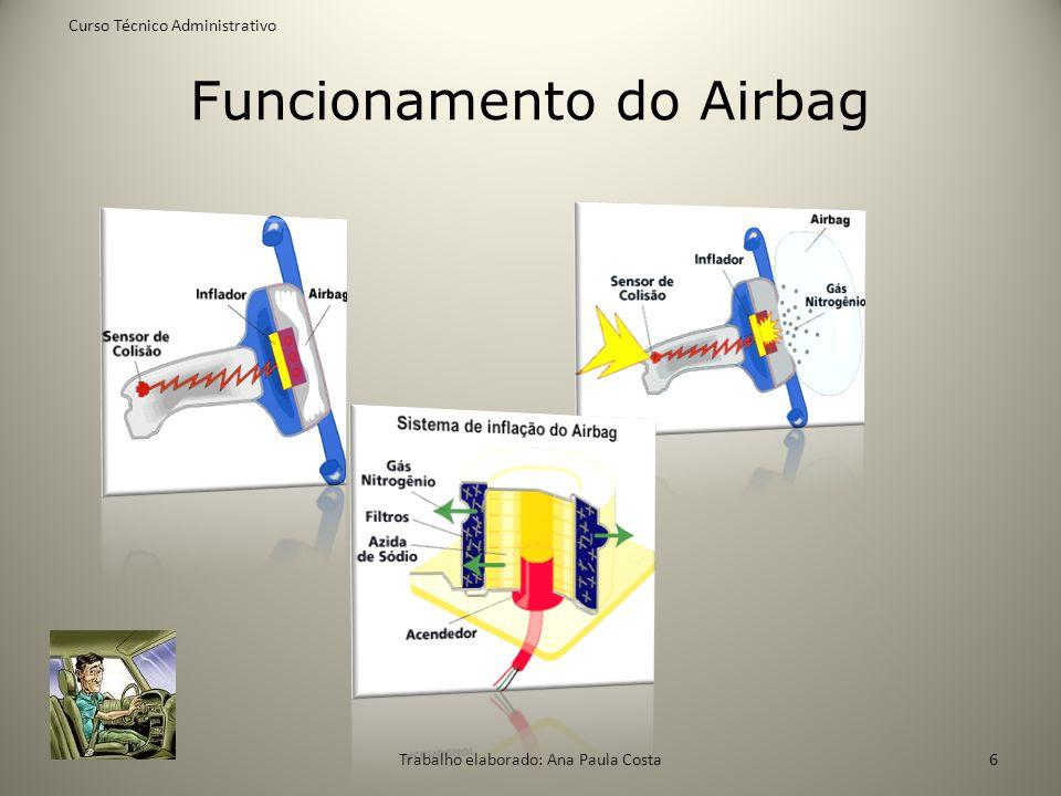 Funcionamento do Airbag Curso Técnico Administrativo Trabalho elaborado: Ana Paula Costa6