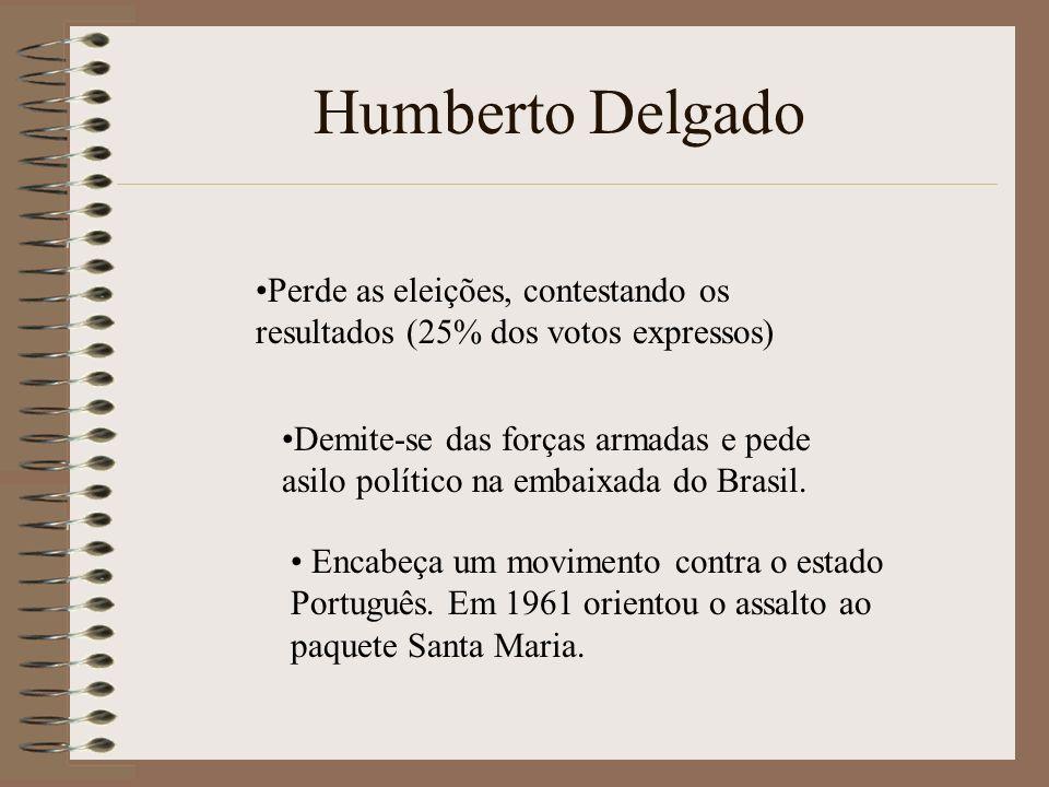 Perde as eleições, contestando os resultados (25% dos votos expressos) Demite-se das forças armadas e pede asilo político na embaixada do Brasil. Enca