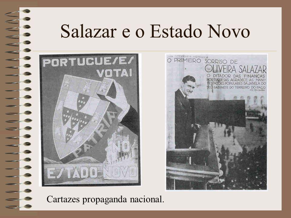 Salazar e o Estado Novo Cartazes propaganda nacional.