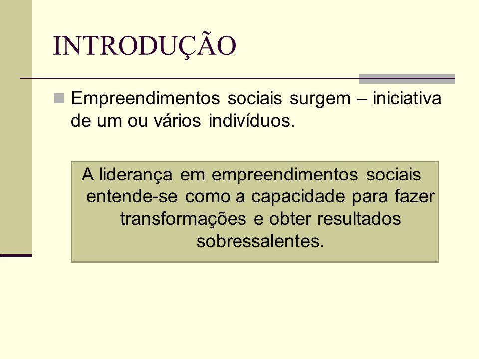 INTRODUÇÃO A Tarefa do líder – impulsionar transformações organizacionais que permitam o crescimento e a consolidação dos empreendimentos sociais a longo prazo.