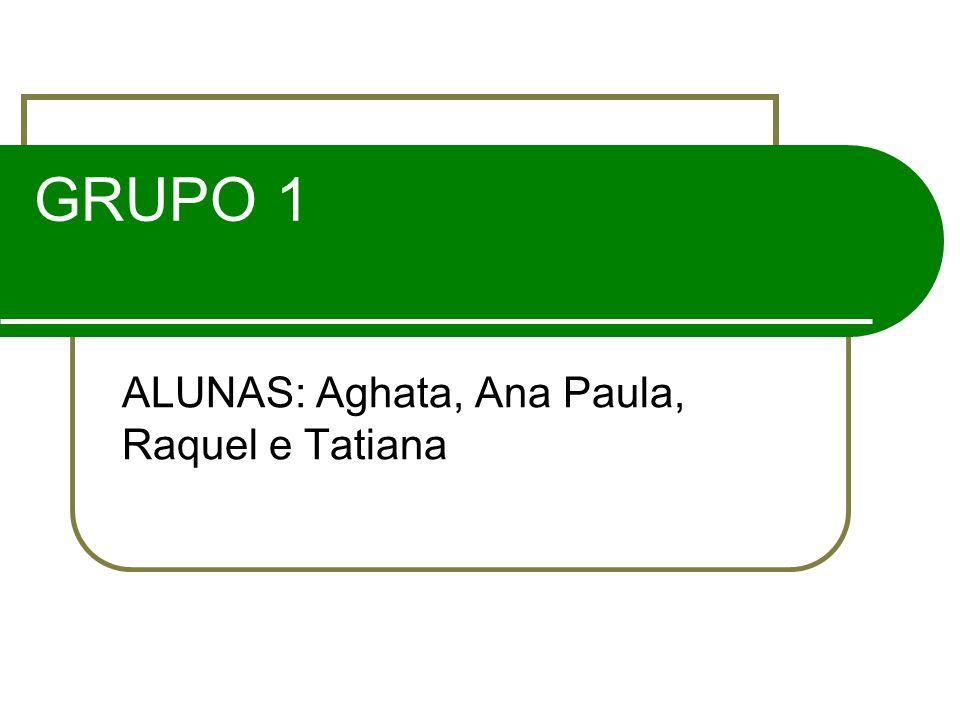 GRUPO 1 ALUNAS: Aghata, Ana Paula, Raquel e Tatiana