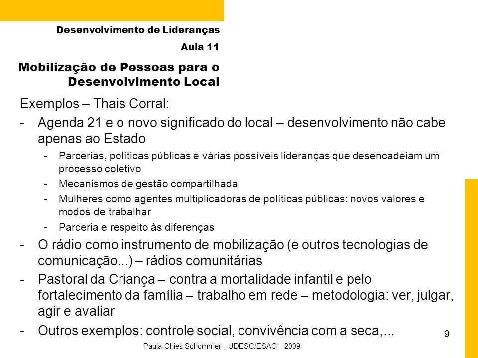 10 Ideias e inovação para transformação social Desenvolvimento de Lideranças Aula 11 Ladislau Dowbor - www.dowbor.orgwww.dowbor.org – Redes de Informação; ações desencadeadoras de transformação -Blog: Crise e Oportunidades Prêmio Fundação Banco do Brasil de Tecnologia Social e Banco de Tecnologias Sociais - www.tecnologiasocial.org.brwww.tecnologiasocial.org.br Paula Chies Schommer – UDESC/ESAG – 2009