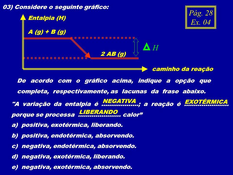 03) Considere o seguinte gráfico: De acordo com o gráfico acima, indique a opção que completa, respectivamente, as lacunas da frase abaixo.