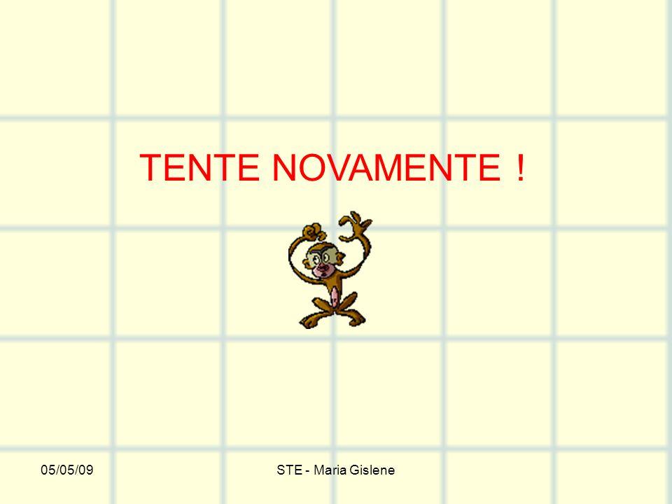 05/05/09STE - Maria Gislene TENTE NOVAMENTE !