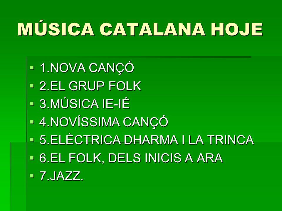 FOLK, PEP EL BOTIFARRA 1961 1961 2 discos 2 discos Novo, mas recupera as formas mais puras da maneira de cantar no País Valencià.