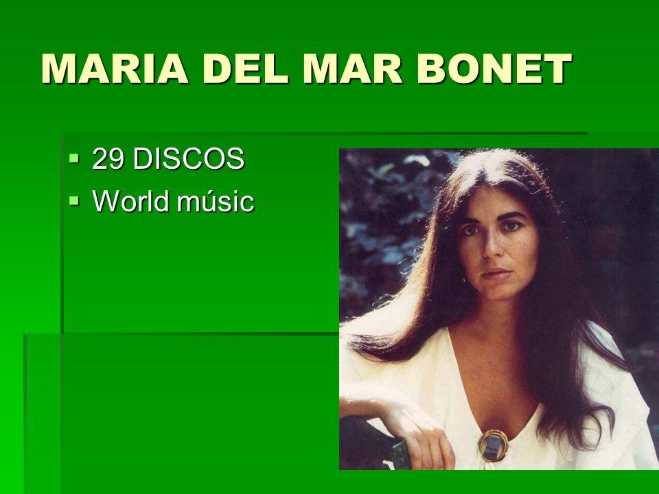 MARIA DEL MAR BONET 29 DISCOS 29 DISCOS World músic World músic