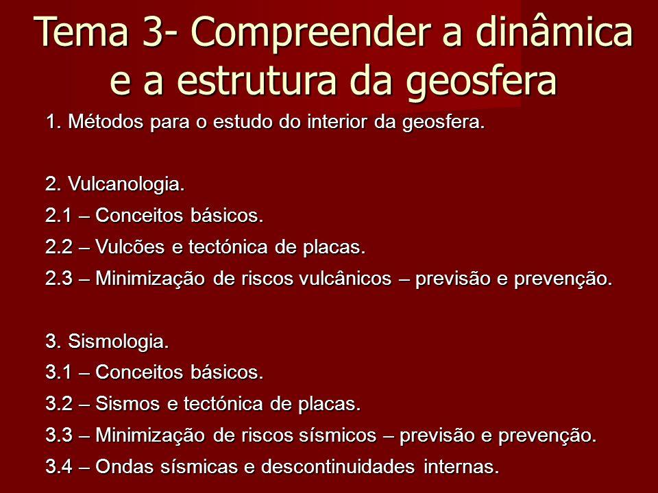 Tema 3- Compreender a estrutura e a dinâmica da geosfera 4.