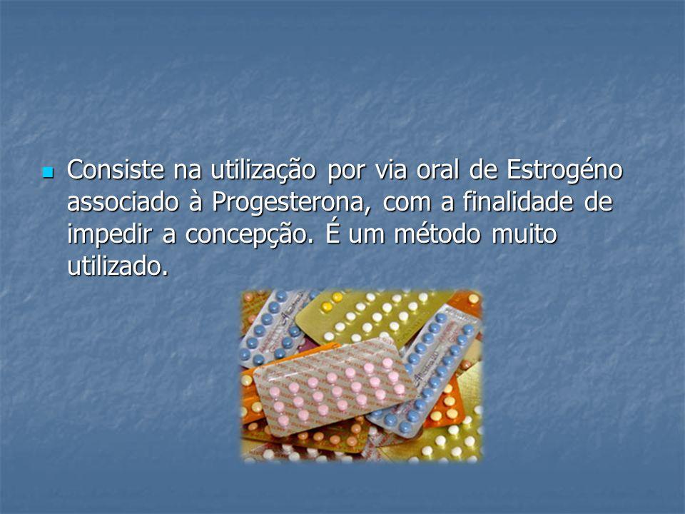 Consiste na utilização por via oral de Estrogéno associado à Progesterona, com a finalidade de impedir a concepção. É um método muito utilizado. Consi